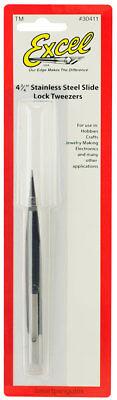 - Excel Stainless Steel Variable Tension Slide Lock Tweezers 4.75