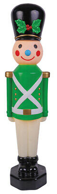 TOY SOLDIER VINTAGE GREEN 42IN LIGHTED BLOW MOLD YARD DECOR