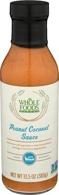 Whole Foods Market, Peanut Coconut Sauce, 13.5 oz (Coconut Peanut Sauce)