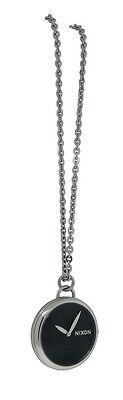 Nixon A728 000 Spree Pendant Women's Round Black Analog Watch & Necklace