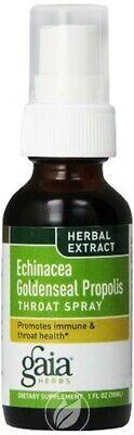 Gaia Herbs - Echinacea Goldenseal Propolis, Throat Spray, 1 fl oz (30 ml)