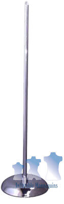 Ms1 - Mannequin Stand 36 Upright Chrome 10 Base