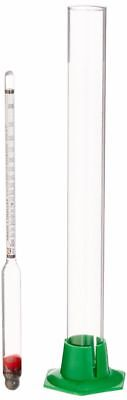 Hydrometer Jar (Proof and Tralle Hydrometer with 12' Glass Test Jar )