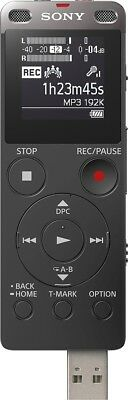 Sony ICDUX560BLK Stereo Digital Voice Recorder with Built-in USB - New Other