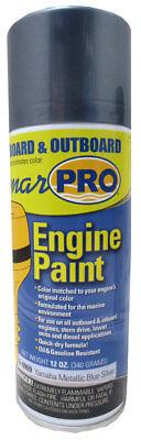 MarPro Yamaha Metallic Blue Silver Inboard & Outboard Engine Spray Paint, 6-6969