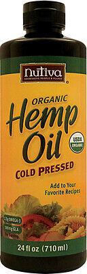 Organic Cold Pressed Hemp Oil by Nutiva, 16 oz