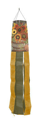 "Hello Fall Floral Primitive Windsock Autumrn Sunflowers 50""L Briarwood Lane"