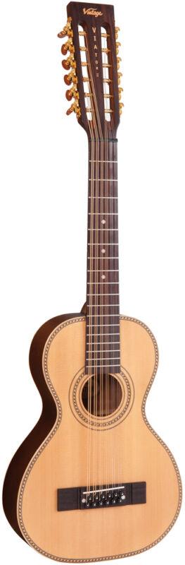 Vintage VTR800PB-12 'Viator' Paul Brett Electro Travel 12 Guitar - B Stock