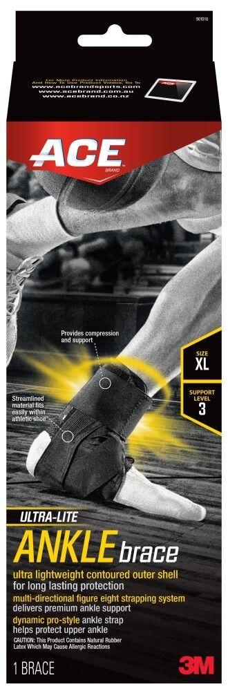 ACE Ultra-Lite ANKLE Brace, Highest Support Level,Designed f