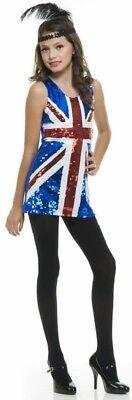 Kids Union Jack Dress (Child's Kids British Flag 60's Sequin Dress Union Jack dress - UK 8/10)