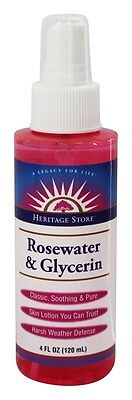 Heritage Store Rosewater And Glycerin Spray Atomizer 4 Oz