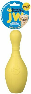 Jw Pet Company iSqueak Bouncin' Bowlin Pin Dog Toy, Medium (Colors May Vary)