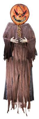 12 FT HANGING EVIL PUMPKIN SCARECROW Outdoor HAUNTED HOUSE HALLOWEEN PROP DECOR - Scarecrow Prop