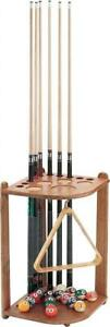 NEW Viper Hardwood Corner Floor Billiard/Pool Cue Rack, Holds 10 Cues, Oak Finish Condtion: New