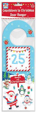 Christmas Countdown Door Hanger Santa Snowman Design Childrens Decorations Kids