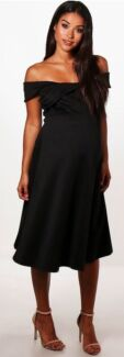 Maternity - Brand new off the shoulder midi dress in blush