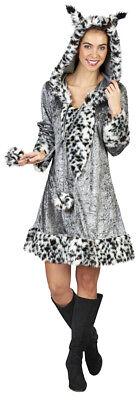 Luchs Kostüm für Damen - Wildkatze Winterfell Karneval Mottoparty kurzes - Graue Katze Kostüm
