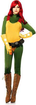 GI Joe Jane Scarlett Spandex Catsuit Jumpsuit Women's Halloween Costume New S](Halloween Costumes News)