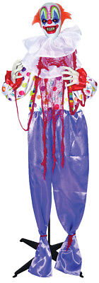 HALLOWEEN LIFE SIZE ANIMATED STANDING CLOWN PROP DECORATION HAUNTED HOUSE
