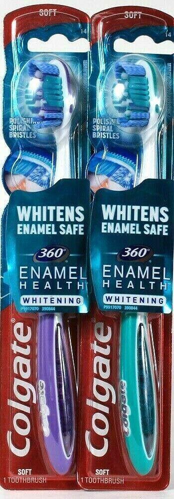 Colgate 360 Enamel Health Whitening Manual Toothbrush, Soft
