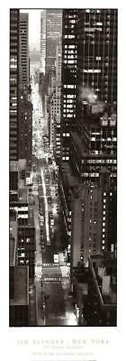 47th Street Photo - 47th Street Evening by Jim Alinder Art Print New York City Photo Poster 14x39