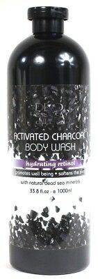 1 Dead Sea Collection 33.8 Oz Activated Charcoal Hydrating Retinol Body - Active Charcoal Body Wash