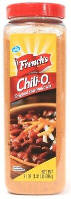 1 French's Chili-O Original Seasoning Mix No MSG 21 oz Best By 8-29-19