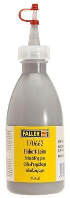 Faller 170662 3196€/ 1L Einbett-Leim Schottergrau 250Ml Neuf