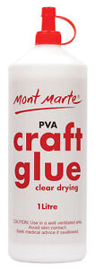 Mont Marte PVA Clear Drying Craft Glue - 1 Litre