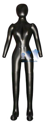 Inflatable Female Mannequin Full-size Head Arms Black