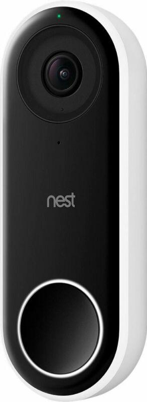 Google - Nest Hello Smart Wi-Fi Video Doorbell, NC5100 - White