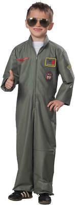 Kampfpilot Jetpilot Pilot Kinder Karneval Fasching Kostüm 116-164 ()