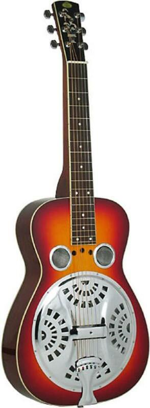 Regal RD-40 SQUARENECK RESONATOR GUITAR. Spruce top, cherry sunburst. Hobgoblin