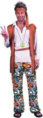 Hippie Man Kostüm für Herren 60er 70er Jahre Seventies Sixties Hose Flower Power