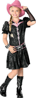 Rockabilly Cowgirl Country Western Star Fancy Dress Up Halloween Child Costume - Cowgirl Dress Up Clothes