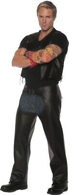 Highway Biker Adult Mens Costume Chaps Renegade - Halloween Chaps