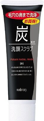Mandom Charcoal Facial Washing Scrub 100g Men from Japan