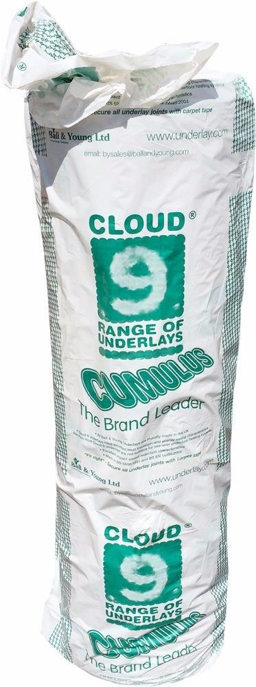 carpet underlay roll. cloud 9 cumulus 11mm thick pu foam carpet underlay roll t