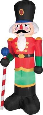 Airblown Rot Nussknacker 2m Spielzeug Soldat Weihnachtsdekoration Hof Aufblasbar (Aufblasbar Weihnachten Hof Dekorationen)