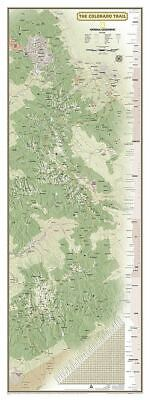 National Geographic CO Colorado Trail Wall Map 18