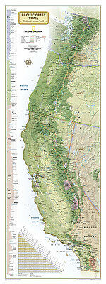 National Geographic Pacific Crest Trail Wall Map 18