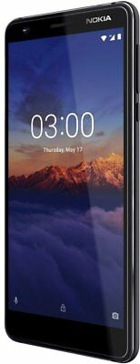 Nokia 3.1 TA-1049 16GB Dual-SIM 13MP Android GSM UNLOCKED Phone  Black/Chrome !!