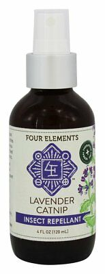 Four Elements Herbals Insect Repellent Lavender Catnip, 4 Ounces