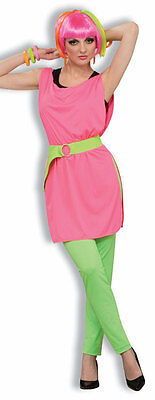 Hot Pink Tunic Neon 80's Pop Star Dress Up Halloween Adult Costume Accessory