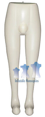 Inflatable Mannequin Male Leg Form Ivory