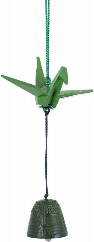 Furin Wind Chime  Bell Takaoka Bronze Copper Handcraft Made in Japan Crane