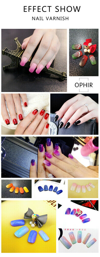 OPHIR 30 Colors Nail Polish Gel Airbrush Nail Gel for Nail Beauty ...
