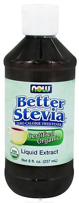 NOW Foods Certified Organic Liquid Stevia Extract 8oz formerly Non-Bitter 5/20ex