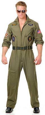 WING MAN AIR FORCE ADULT HALLOWEEN COSTUME MEN'S SIZE LARGE 42-44 - Green Man Halloween Costume