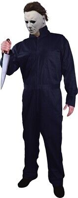 Michael Myers Coveralls Adult Men's Halloween Villain Blue Horror - Adult Michael Myers Kostüm